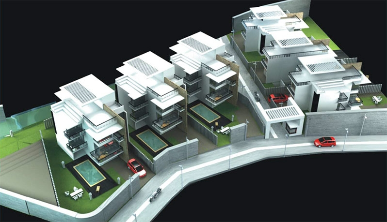 Deans Executive Villas Aerial View