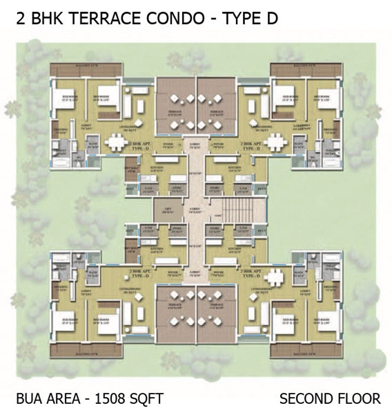 2BHK Terraced Condo - Type D