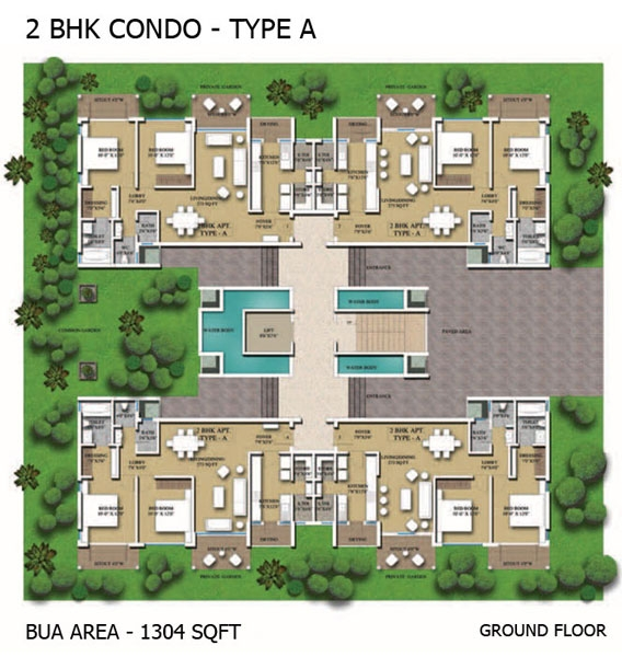 2BHK Condo - Type A