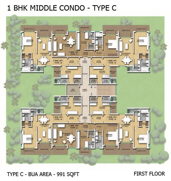1BHK Middle Condo - Type C
