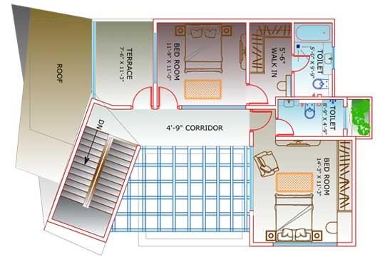 Floor Plan of Villa A