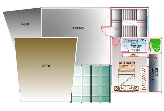 Floor Plan of Villa B
